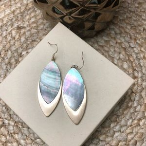 Boutique Gold Pearl Dangle Earrings